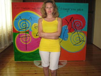 Paka Traykova with Holy Doors